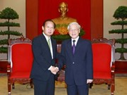 Party chief receives Japan's LDP general secretary