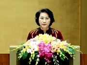 Top legislator calls for breakthrough measures to achieve set targets