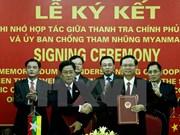 Vietnam, Myanmar sign MoU on anti-corruption