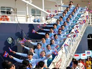 Southeast Asian, Japanese youth ship leaves HCM City