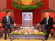 Party chief welcomes Lao diplomat in ambassadorial role