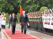 Vietnamese, Belarusian Presidents hold talks