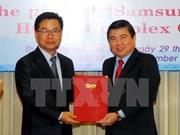 HCM City: Samsung's hi-tech project gets additional 600 mln USD