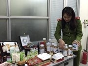 Hanoi police seize dubious cosmetics and health food