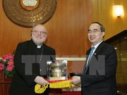 Fatherland Front leader welcomes German Cardinal