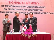 Hanoi, Japan cooperate in urban railway development
