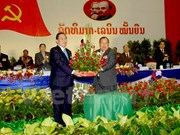 Party chief congratulates his new Lao counterpart