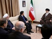 President meets Iran's Supreme Leader