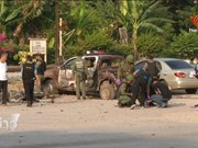 Thailand tightens security in public places after blast