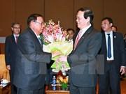 Lao Party chief meets Vietnam-Laos Friendship Assoc representatives