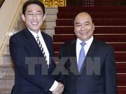 Prime Minister greets Japanese Foreign Minister