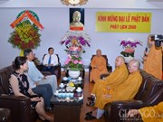 VFF leader visits Buddhist dignitaries, followers in HCM City
