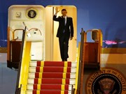 President Obama arrives for three-day visit