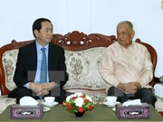 President concludes Lao visits, heads to Cambodia