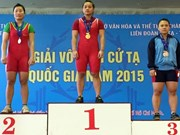 Two Vietnamese lifters compete at junior world champs