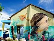 Mural art revitalises central fishing village