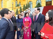 State leader meets new heads of diplomatic missions abroad