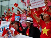 Overseas Vietnamese in RoK protests China's illegal acts in East Sea