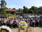 Incense offered at Laos-Vietnam martyr cemetery in Laos