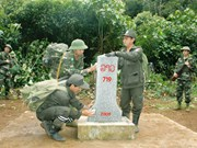 Border marker upgrade helps boost Kon Tum's ties with Lao localities