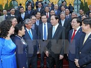 President meets Vietnamese ambassadors abroad