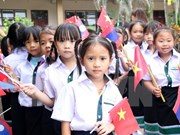 Nguyen Du school in Vientiane launches new school year