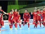 Vietnamese futsal team up three spots in rankings