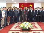 Vientiane's Vice Mayor studies Binh Duong's development experience