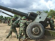 Vietnamese, Cambodian artillery forces boost ties