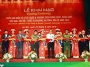 Int'l exhibition on fire safety equipment opens in Hanoi