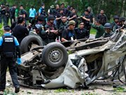Bomb kills three police officers in southern Thailand