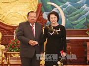 NA Chairwoman meets Lao Party General Secretary