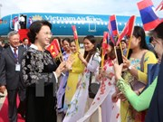 National Assembly Chairwoman starts official visit to Cambodia