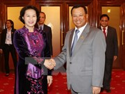 NA Chairwoman meets Cambodian leaders, leaves for Myanmar