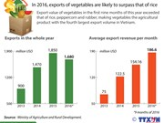 Vegetable exports may surpass that of rice
