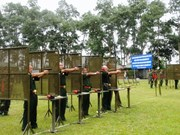 Foreign military attachés attend shooting event in Vietnam