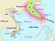 Typhoon Haima enters East Sea