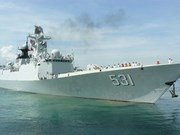 [Video] Chinese naval ships visit Cam Ranh int'l port