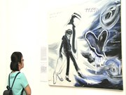[Video] Young Chinese artists' paintings on display in Hanoi