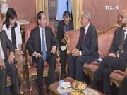 President meets with Italian parliament's leaders