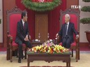 Party leader welcomes new Japanese ambassador