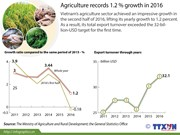 Agriculture records 1.2% growth in 2016