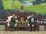 Lao leaders value volunteer soldiers' contributions