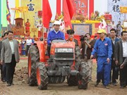 President Tran Dai Quang enjoys Tich Dien festival in Ha Nam