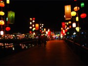 Hoi An lit up with lanterns