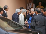 Party leader meets Japanese Emperor, Empress