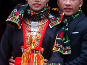 A typical wedding ceremory of Red Dao ethnics nowadays