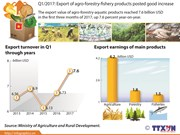 Q1/2017: Export of agro-forestry-fishery products posted good increase