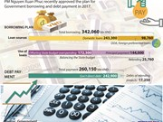 Government's borrowing and debt payment in 2017