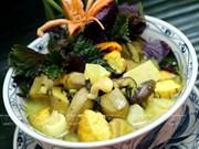 North Vietnam's cuisine: Vegan banana-tofu soup